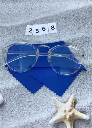 Модные имиджевые очки в прозрачной оправе к. 2568