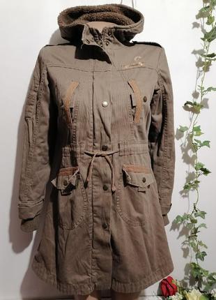 Вельветовое пальто в стиле милитари, плащ, тренч, куртка с мех...
