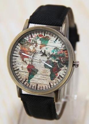 Мужские часы, часы карта мира