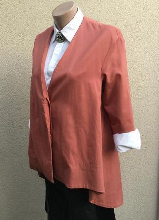 Ассиметричный,удлиненный по спинке жакет,пиджак,блейзер,кардиг...