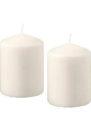 Свечи столбики IKEA цилиндрические 4 шт х 15 часов горения