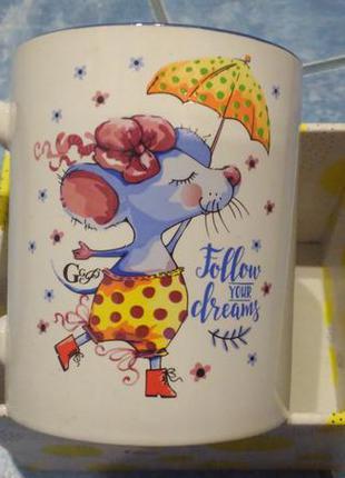"""Чашка керамічна """"слідуйте своїм мріям"""" (кружка сувенирная с на..."""