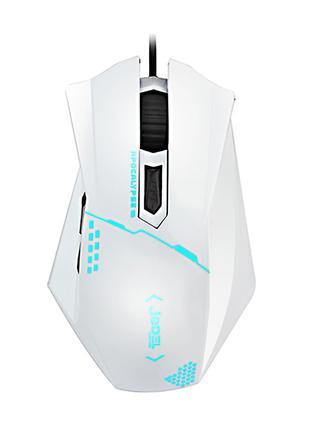 Игровая мышь JEDEL GM-300 USB белая 2400 dpi с LED подсветкой
