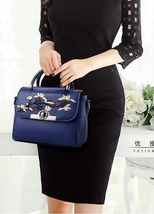 Женская мини сумочка клатч с вышивкой