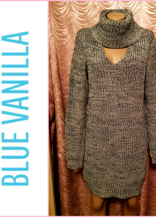Удлинённый джемпер, платье-туника. Blue Vanilla. 46 размер.