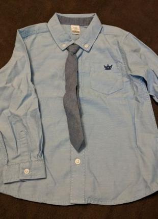 Новый Комплект Рубашка + Галстук на 1.5-2 года
