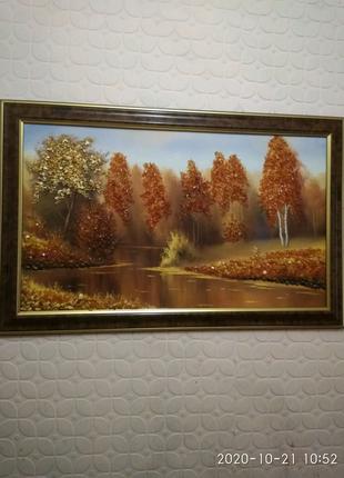 Картина из янтаря
