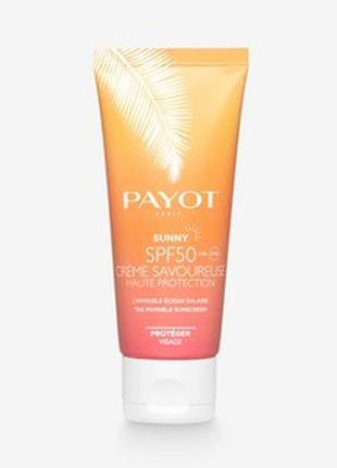 Солнцезащитный крем для лица payot sunny spf 50