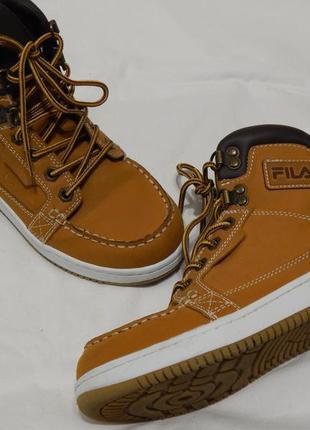 Демисезонные ботинки сапожки осінні черевики fila