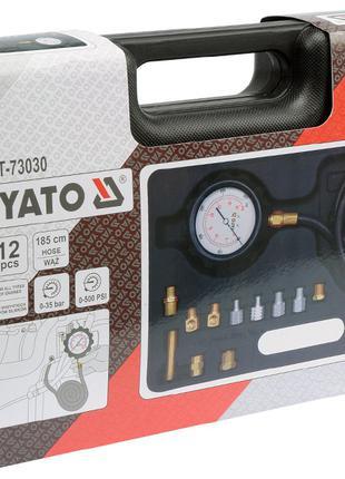 Профессиональный тестер измерения давления масла с адаптерами Yat