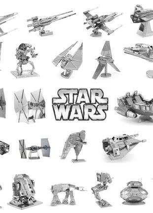 Металлический конструктор 3D puzzle Звездные войны