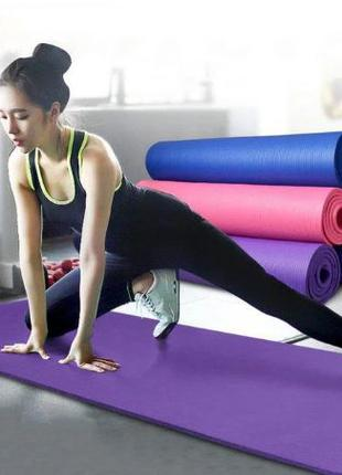 Коврик-Мат для йоги, пилатеса и фитнеса, 173см х 61см, йогамат...