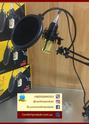 Студийный профессиональный Микрофон Music D.J. M800 со стойкой