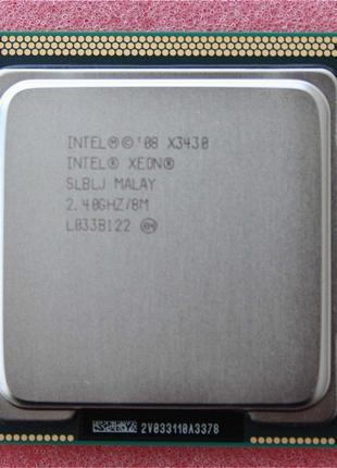 Процессор intel Xeon X3430 LGA1156 аналог Core i5 750s 95W