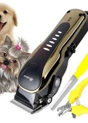 Машинка тример для стрижки кошек и собак, животных .GM 6063, г...