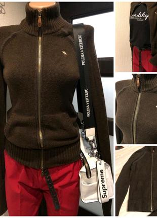 Отличная коричневая кофта пуловер свитер джемпер
