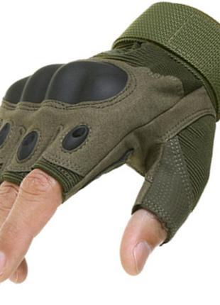 Перчатки тактические защитные Военные рукавицы. Беспалые перчатки