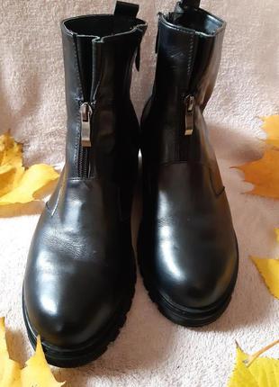 Кожаные зимние ботинки, большой размер, 41, 42
