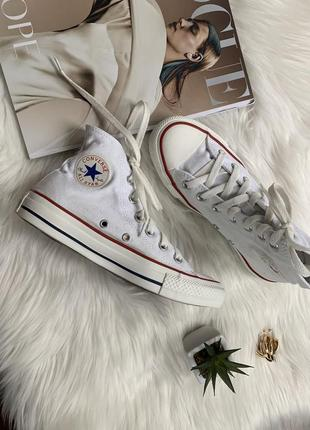 Высокое кеды converse chuck taylor all star hi optical white