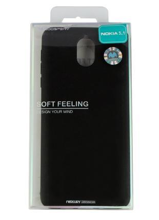 Силиконовый чехол для Nokia 3.1, Mercury Goospery, черный