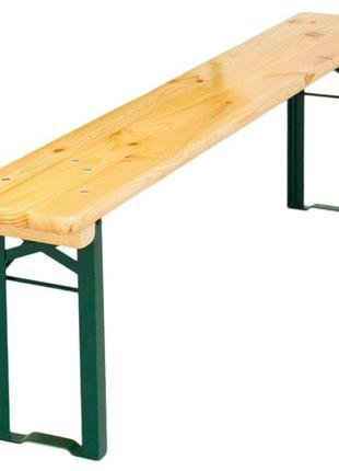 Аренда деревянных складных лавок, столов, деревянной мебели