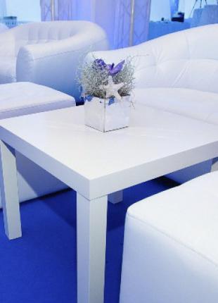 Аренда белых журнальных столиков ИКЕА, кофейных столиков