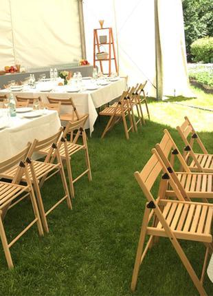 Аренда деревянных складных стульев Sven для фестивалей