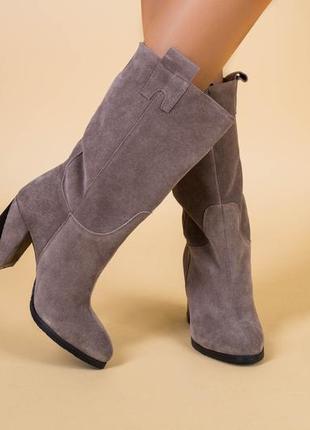 Lux обувь! сапоги женские на каблуке деми зима