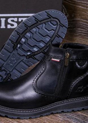 Мужские кожаные зимние ботинки Kristan