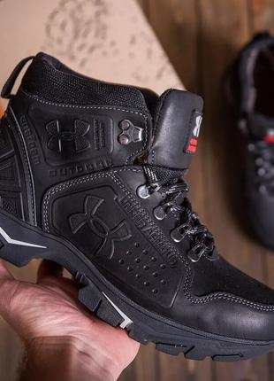 Мужские зимние кожаные ботинки Under Armour