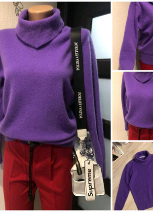 Натуральная шерсть стильный джемпер свитер кофта свитшот