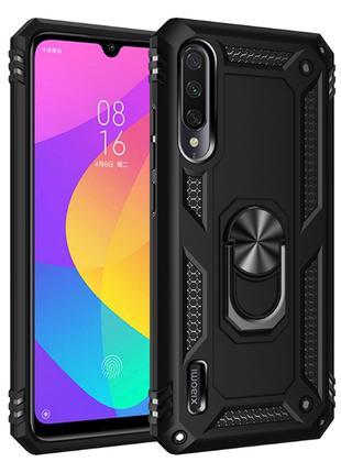 Противоударный чехол с подставкой для Xiaomi Mi A3, черный