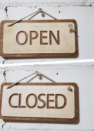 Доска открыто закрыто для заведения, ресторана, бара, кафе