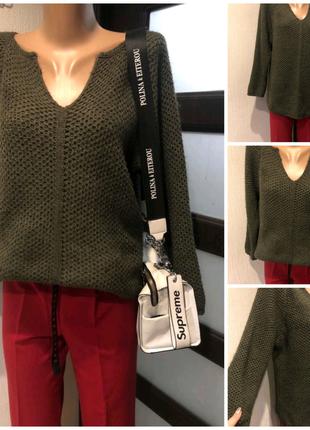 Стильный тепленький джемпер свитер кофта свитшот