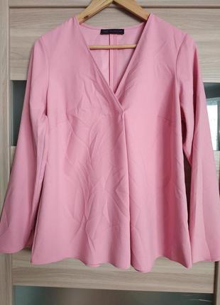 Стильная красивая нежная блуза длиный рукав