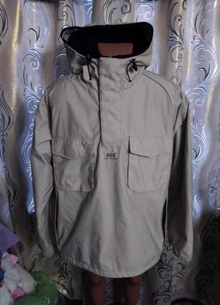 Мужская куртка-штормовка на плотном флисе helly hansen