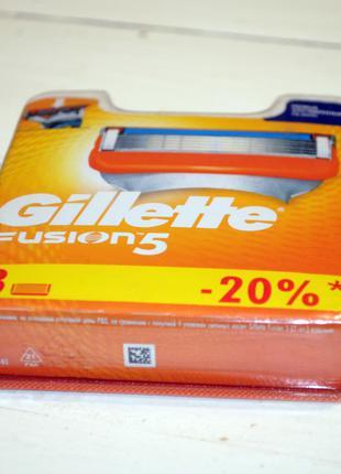 Оригинальные лезвия для бритья Gillette Fusion поштучно