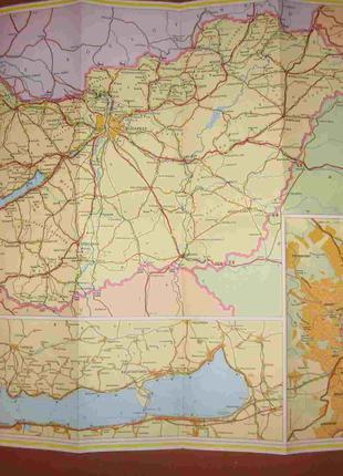 Туристическая карта Венгрии (включая план Будапешта)