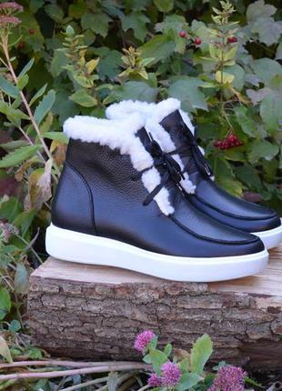 Ботинки-лоферы деми, осенние, зимние, кожаные, женские, 36-40р