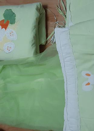 Защита на кроватку с балдахином Piccolino