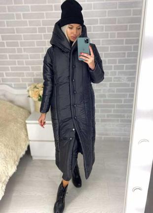 Зимняя куртка длинная,пальто
