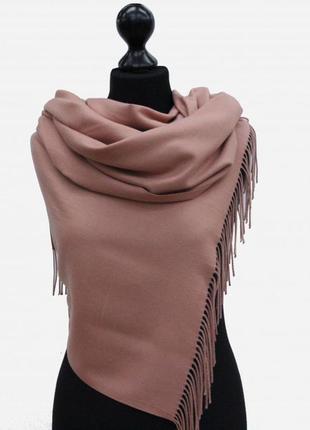 Палантин великолепного качества пастельный розово-сиреневый