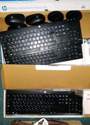 Клавиатура и мишка Logitech wireless keyboard and mouse200