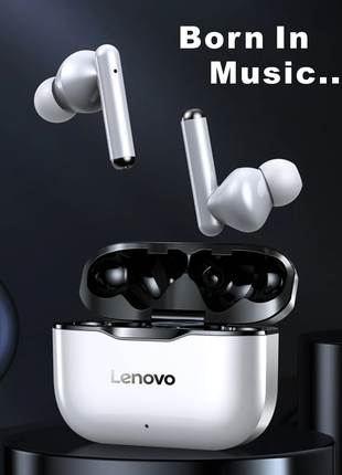Беспроводные наушники Lenovo +силиконовый чехол /наушники леново