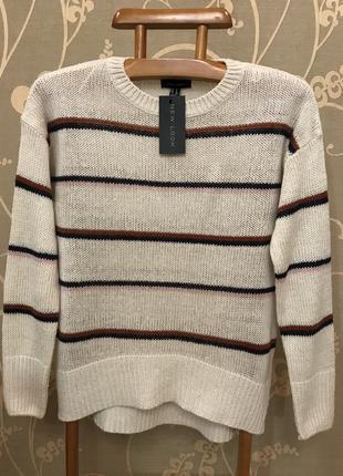 Нереально красивый и стильный брендовый вязаный свитер.