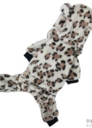 Одежда для собак костюм махровый леопард
