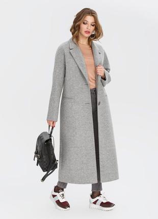 Длинное пальто демисезонное