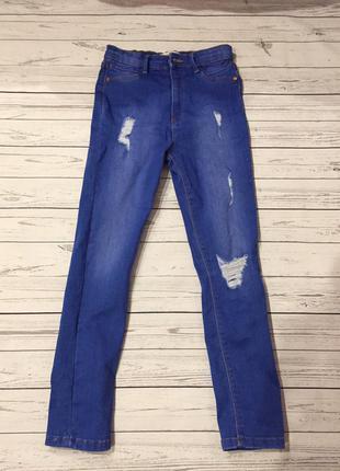 Рваные модные джинсы на 10 лет