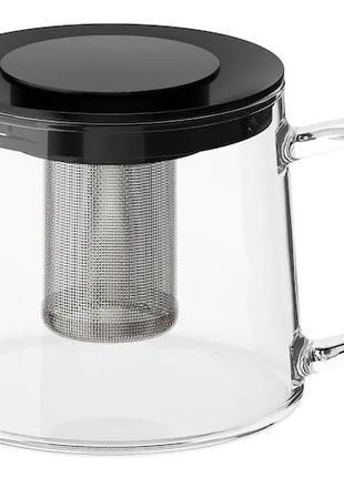 Чайник заварочный 600 мл IKEA стеклянный заварник