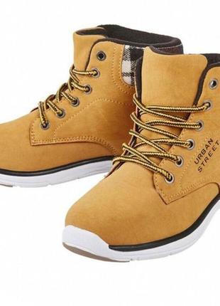 Демисезонные ботинки для мальчика от pepperts р. 31